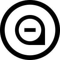 Marker minus sign in circular symbol