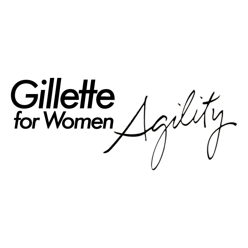 Gillette for Women Agility vector logo