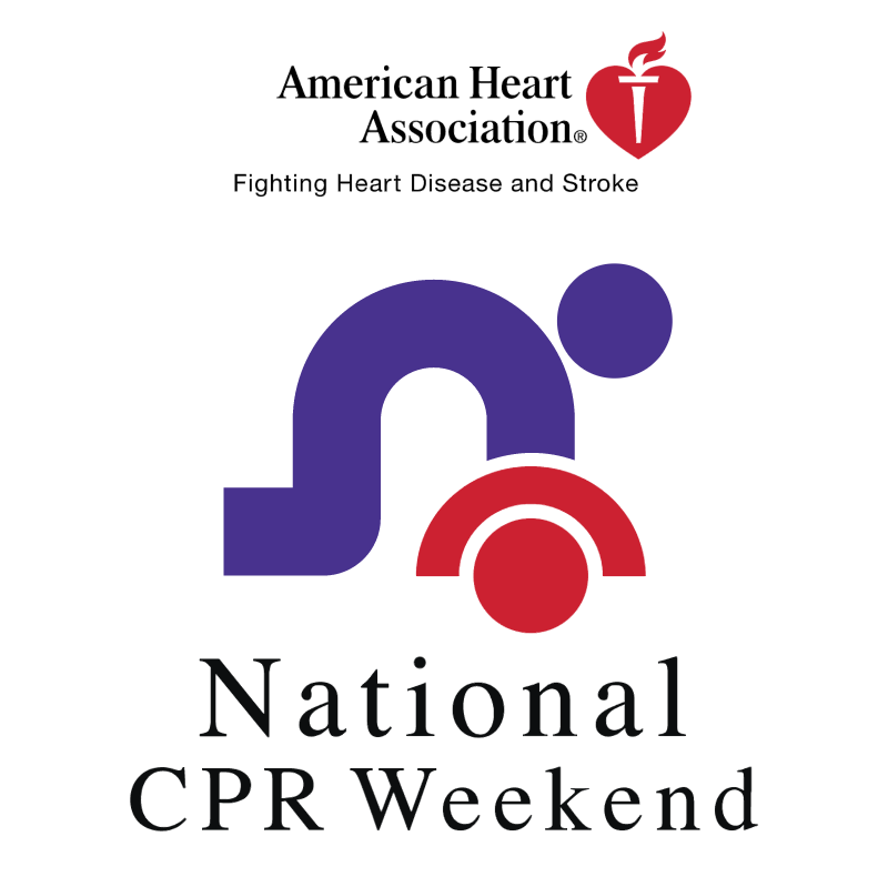 National CPR Weekend vector logo