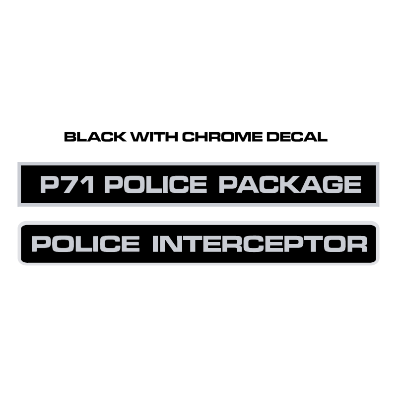 Police Interceptor Decals vector