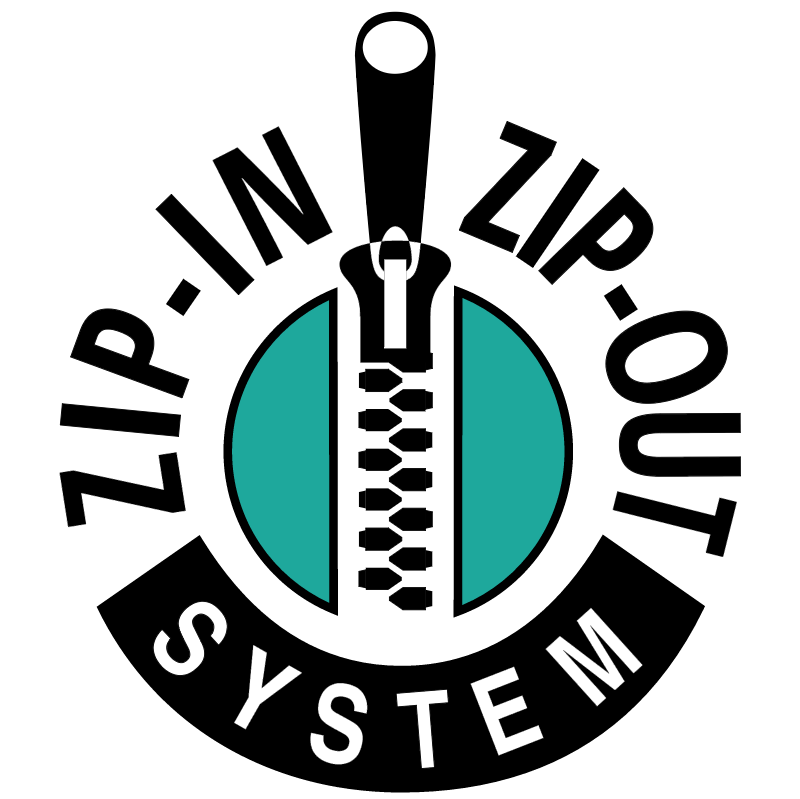 Zip In Zip Out System vector