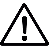 Warning triangular