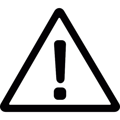 Warning triangular vector logo