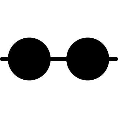 Horizontal line with two black dots vector logo