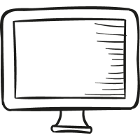 Drawed Television Screen vector