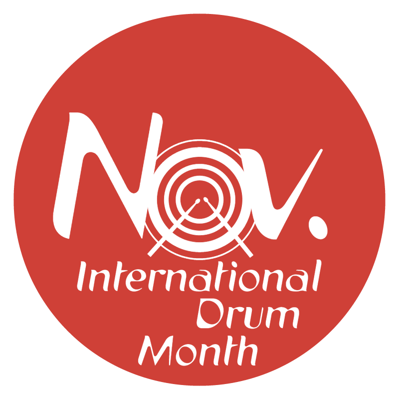 International Drum Month vector
