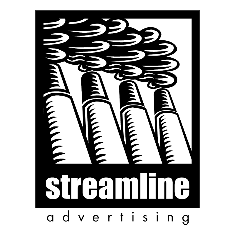 Streamline advertising vector logo