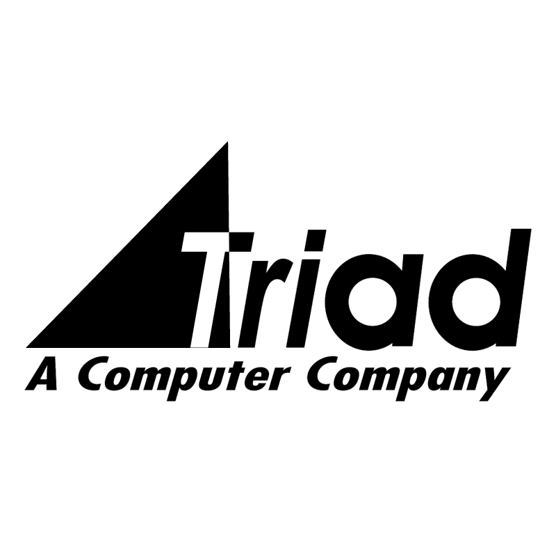 Triad Computer Solutions vector logo