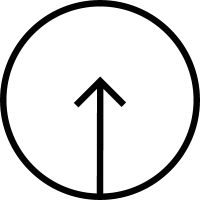 Arrow up inside a circular button vector