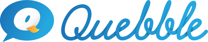 Quebble vector logo