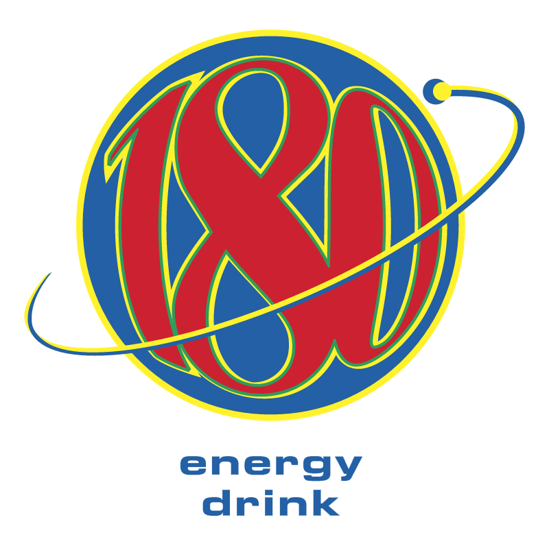 180 energy drink vector