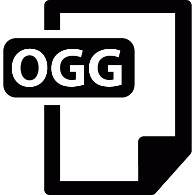 Ogg file vector logo