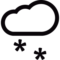Snowing cloud vector