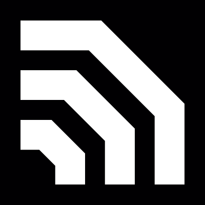 Rss symbol variant for Facebook in a square vector logo