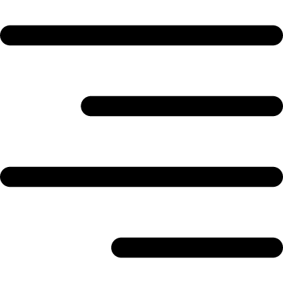 Right alignment of text vector logo