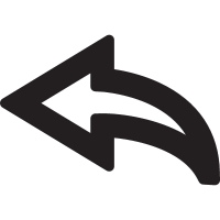 Curved Left Arrow vector