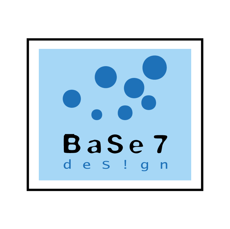 Base 7 Design vector logo
