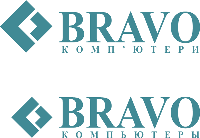 Bravo Computers logo vector logo