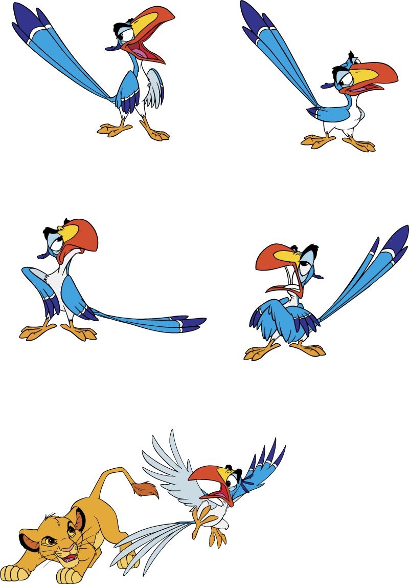 Disney's Zazu vector