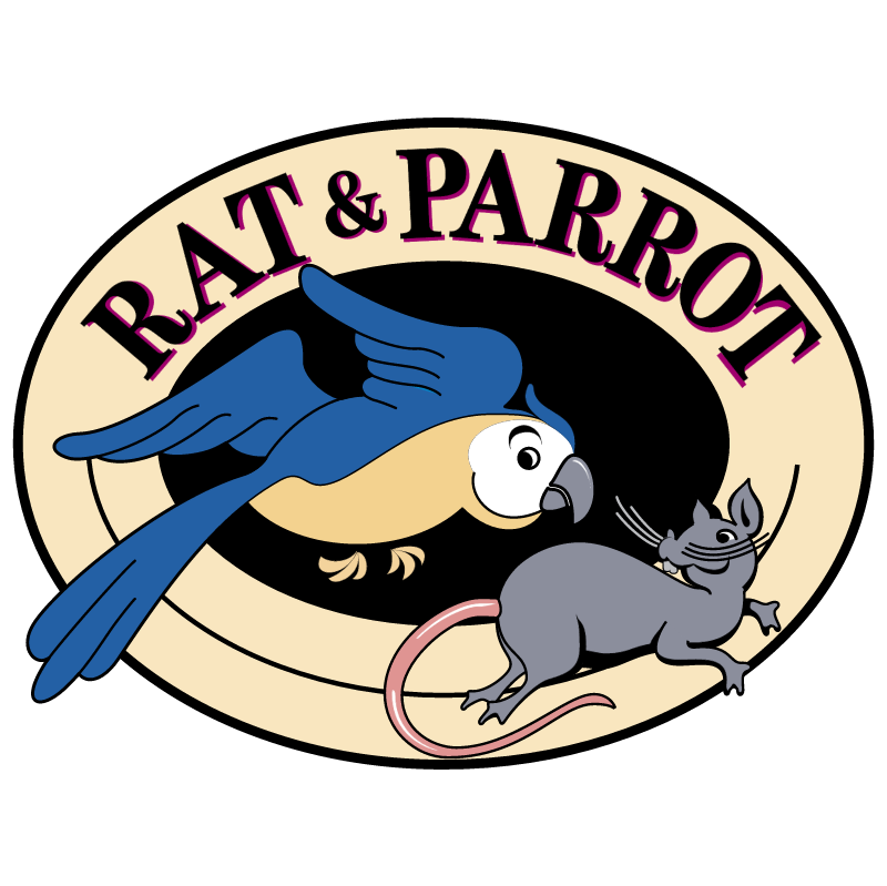 Rat & Parrot vector logo