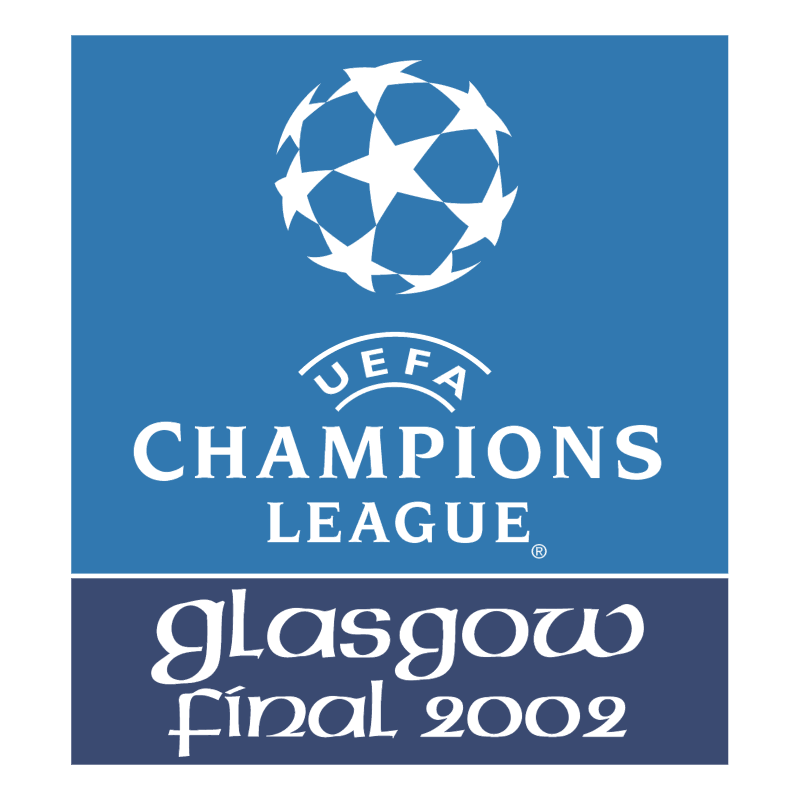 UEFA Champions League Glasgow Final 2002 vector