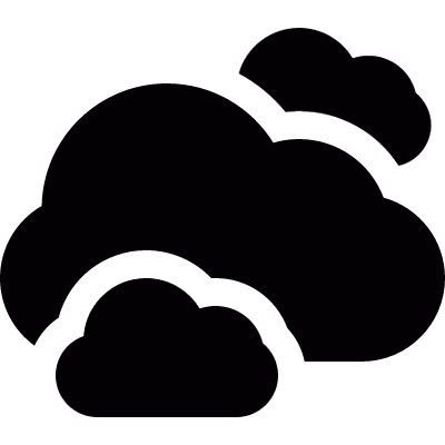 Clouds group vector logo