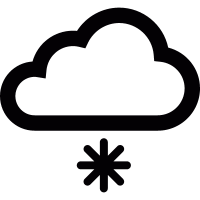 Cloud and snowflake vector