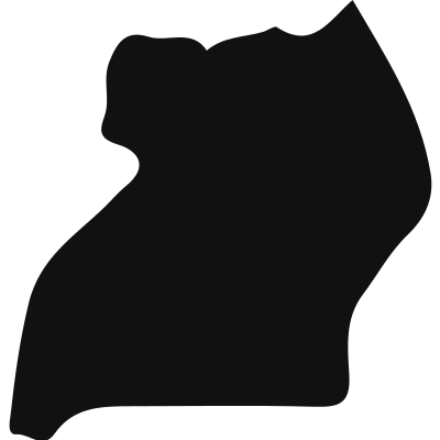 Uganda country map black shape vector logo