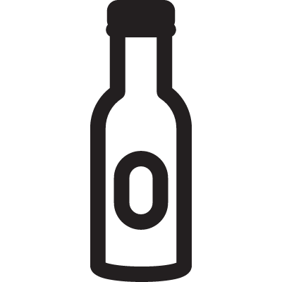 Vodka Closed Bottle vector logo