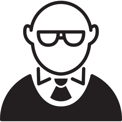 Bald Man with Glasses vector logo