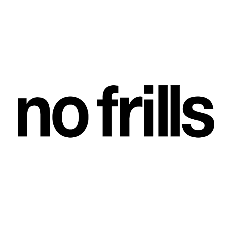 No Frills vector