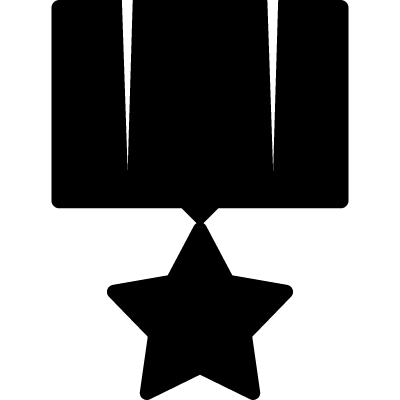 Star recognition symbol vector logo