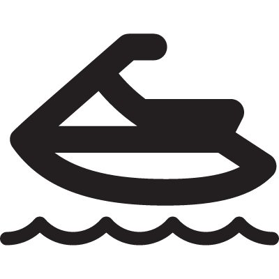 Sky Board on Sea vector logo