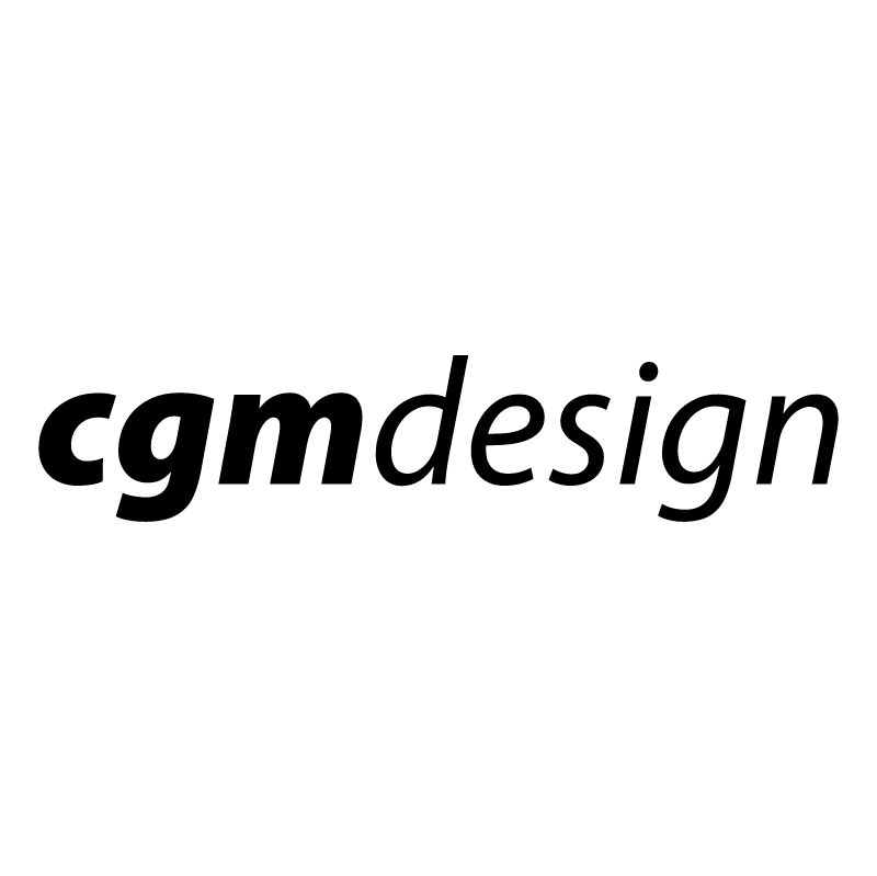 CGM design vector logo