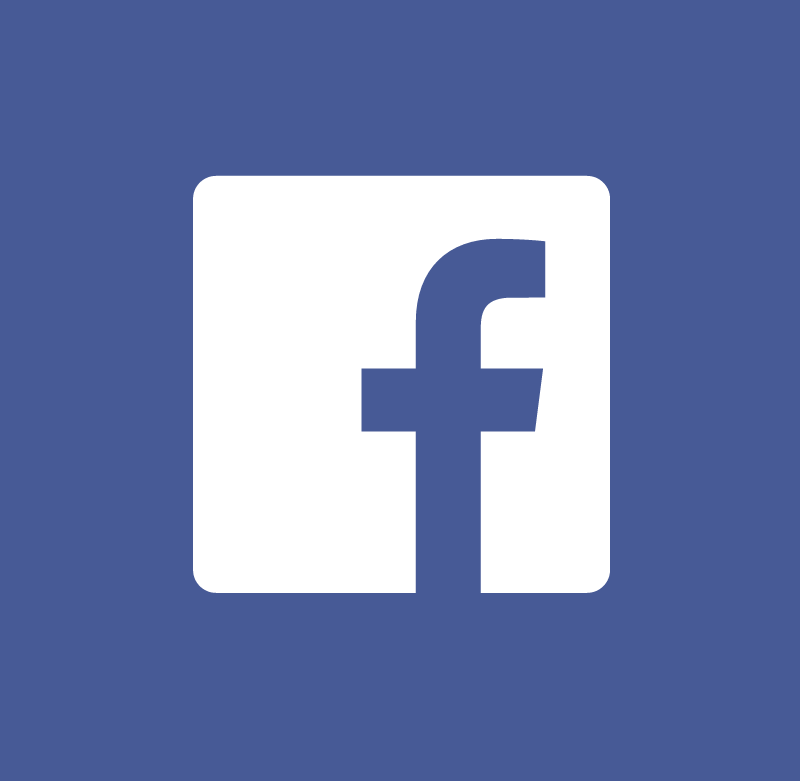 Facebook icon white vector logo