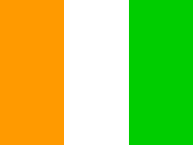 Flag of Ivory Coast vector