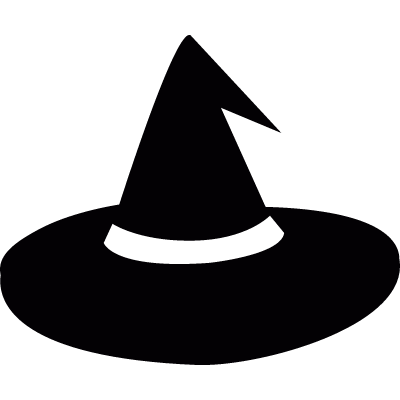 Hat for a typical Halloween witch vector logo