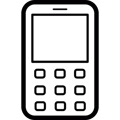 Old Mobile Phone vector logo