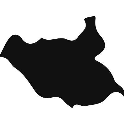 South Sudan country map silhouette vector logo
