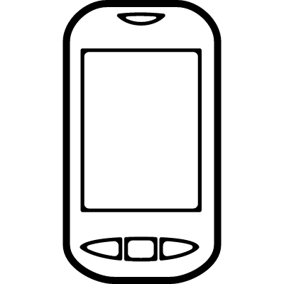 Mobile phone with three buttons logo