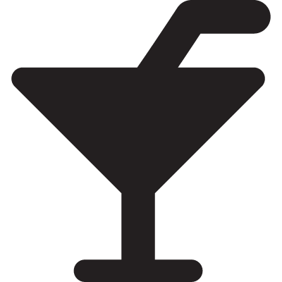 Cocktail with straw vector logo