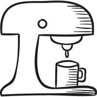 Drawed Coffemaker vector