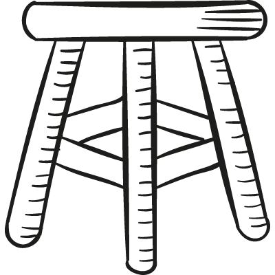 Wood Stool vector logo