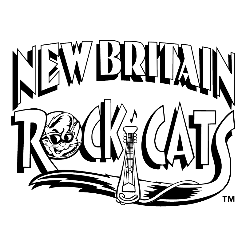 New Britain Rock Cats vector logo