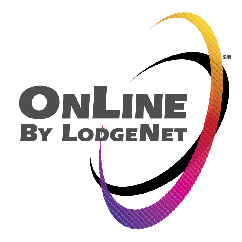 OnLine By LodgeNet vector logo