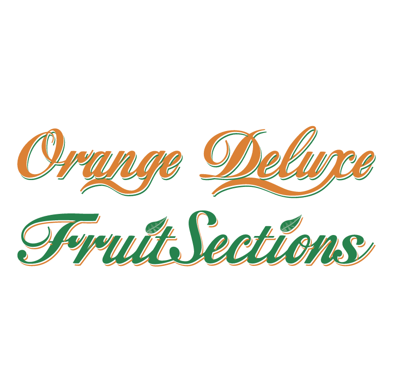 Orange Deluxe Fruit Sections vector