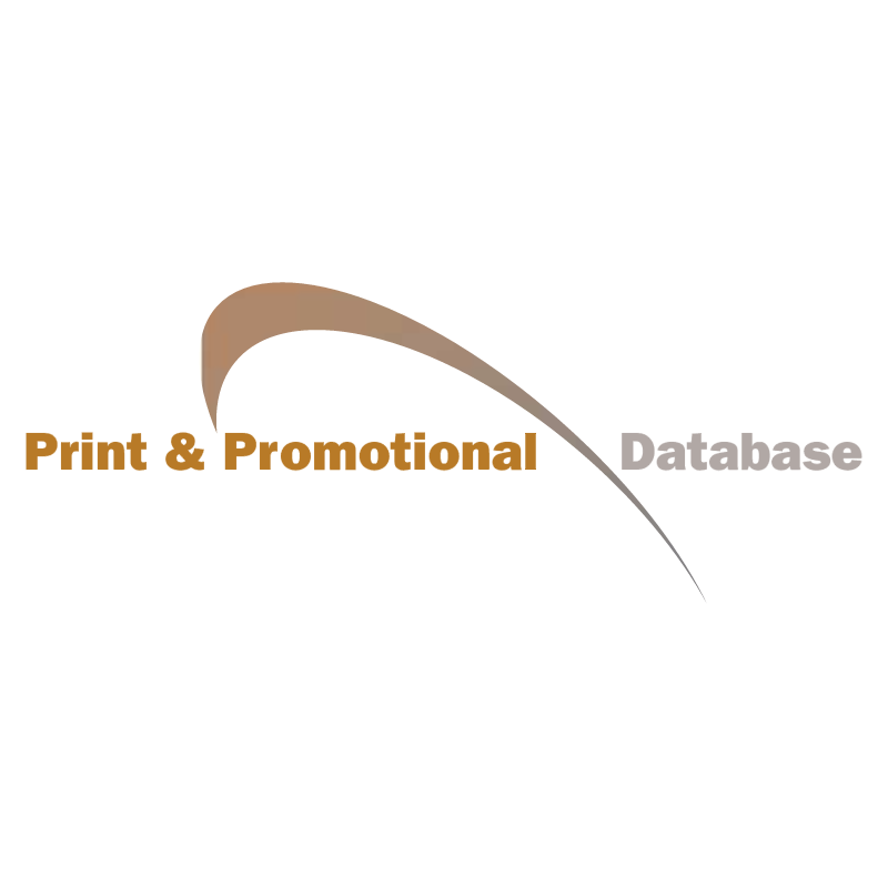 Print & Promotional Database vector logo