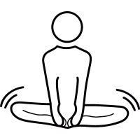 Yoga Lotus posture vector