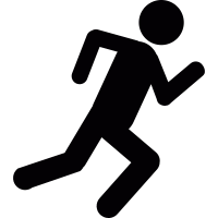 Running stick figure vector