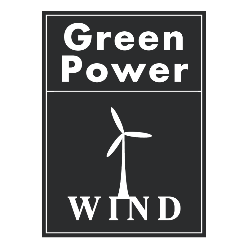 Green Power Wind vector
